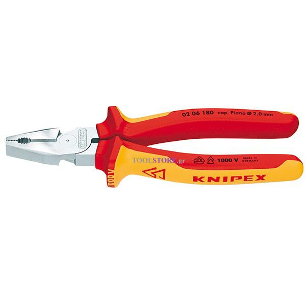 KNIPEX 0206200 πενσα ατσαλοσυρματος δυνατη χρωμιου 1000V VDE 200mm