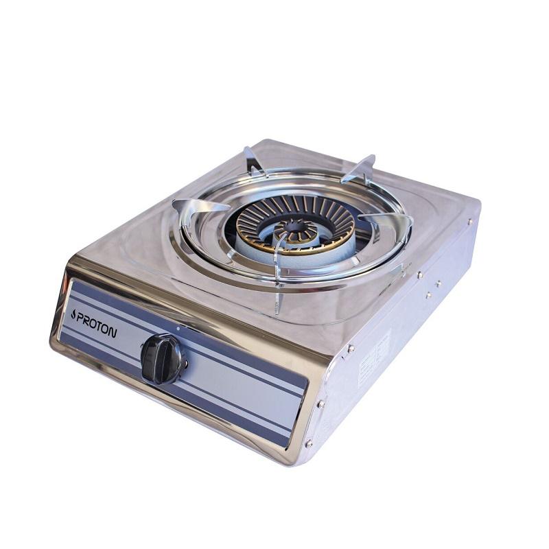 κουζινακι υγραεριου PROTON 1-01SRB επιτραπεζιο INOX με 1 εστια