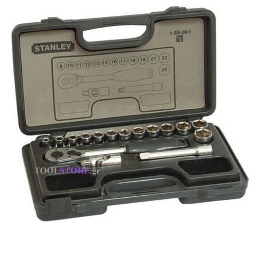 STANLEY 1-89-091 κασετινα καρυδακια 1/2 ιντσας 16 τμχ.