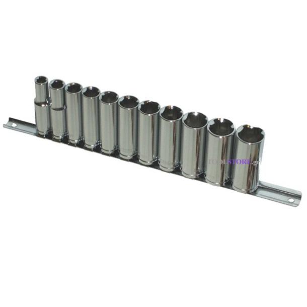 σετ καρυδακια μακρια BERGEN 11 τμχ 3/8 8-19mm TAIWAN