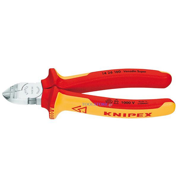 KNIPEX 1426160 πλαγιοκοφτης απογυμνωτης 160mm χρωμιου 1000V VDE