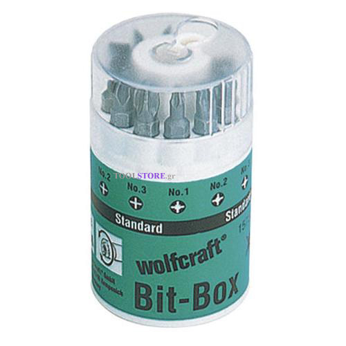 wolfcraft 1575000 σετ μυτες 10 τμχ σε βαρελι