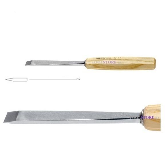 pfeil 1/40 σκαρπέλο ξυλογλυπτικής ευθεία λάμα ίσια κόψη 40mm