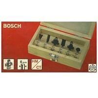 BOSCH 6 φρεζες HM/CT για ρουτερ σε ξυλινο κουτι