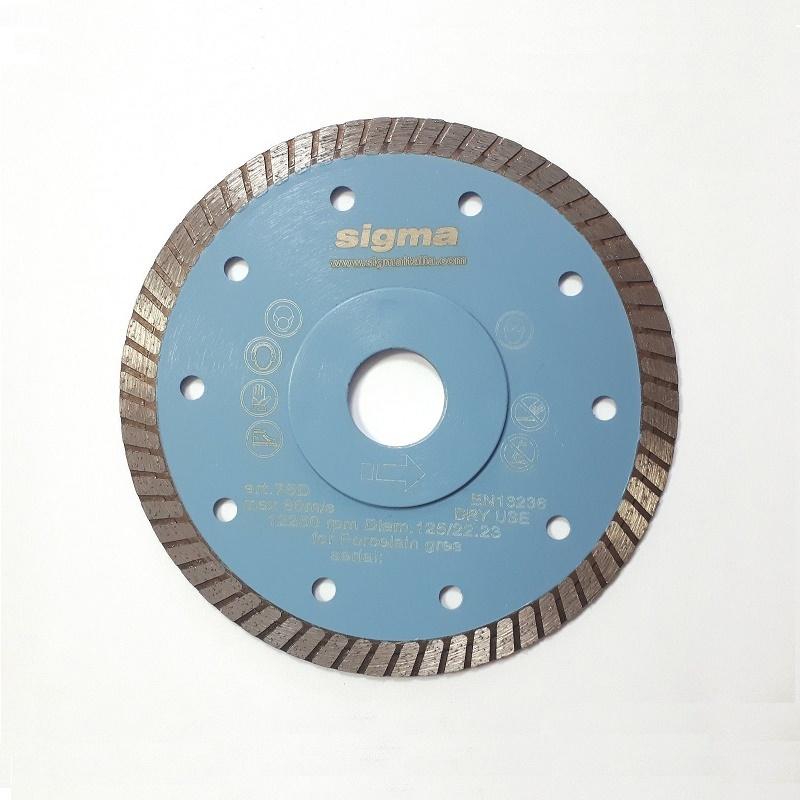 sigma 75D διαμαντόδισκος turbo επαγγελματικός 125mm