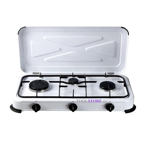 κουζινακι υγραεριου CAMPING με 3 εστιες