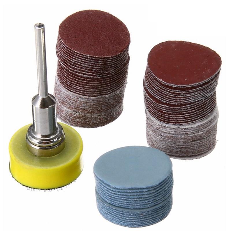 σετ 100 δίσκοι λείανσης με αυτοπρόσφυση (velcro) 25mm και 1 βάση velcro 25mm