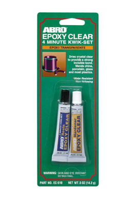 εποξικη κολλα ABRO EPOXY CLEAR 4 MINUTE 0.5oz, made in U.S.A.
