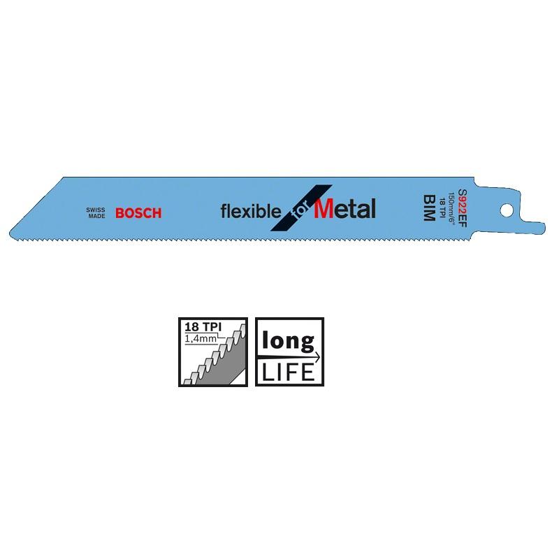 σπαθολαμα BOSCH S 922 EF Flexible για μεταλλο 150mm