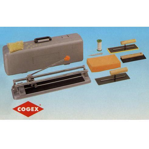 COGEX κοφτης πλακιδιων 400mm σε βαλιτσα σετ 8 τεμαχιων