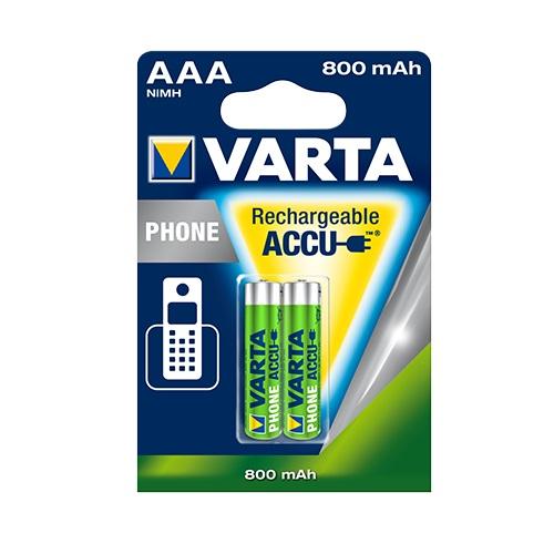 VARTA μπαταρια επαναφορτιζομενη ΑΑΑ 800mAh 2 τεμαχια