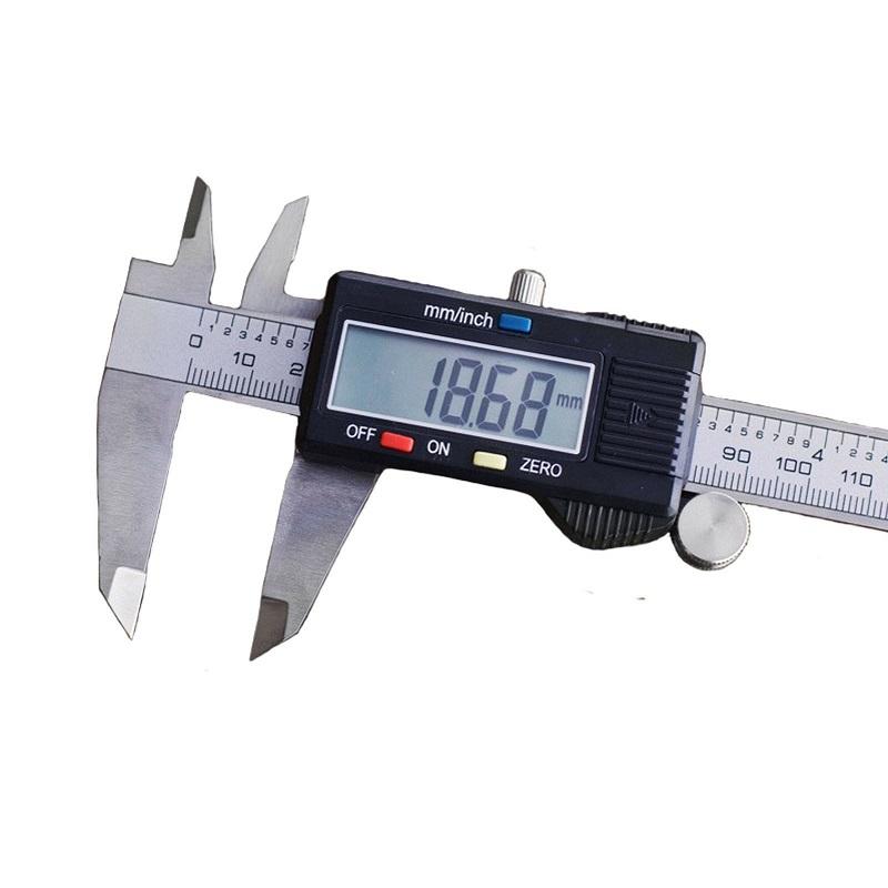 παχύμετρο ψηφιακό 150mm σε πλαστική κασετίνα με ροδάκι ρύθμισης