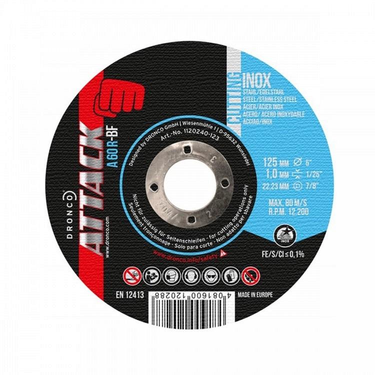 λεπτός δίσκος κοπής inox DRONCO ATTACK 125mm