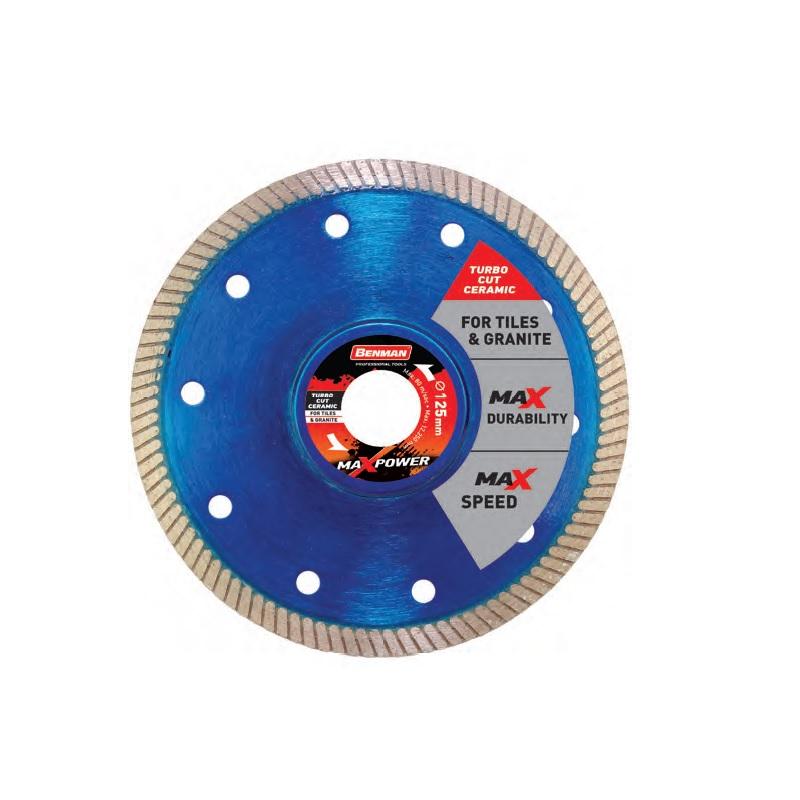 διαμαντοδισκος turbo cut ceramic BENMAN 115mm