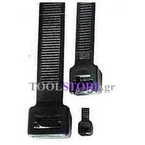 haupa, δεματικα καλωδιων μαυρα σετ 100τεμαχιων  100mmX2.5mm