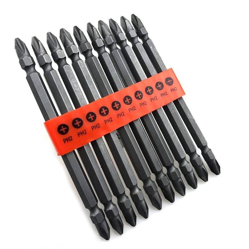 σετ μυτες  σταυρου Νο. 2 μακριες διπλες 10 τμχ. 110mm