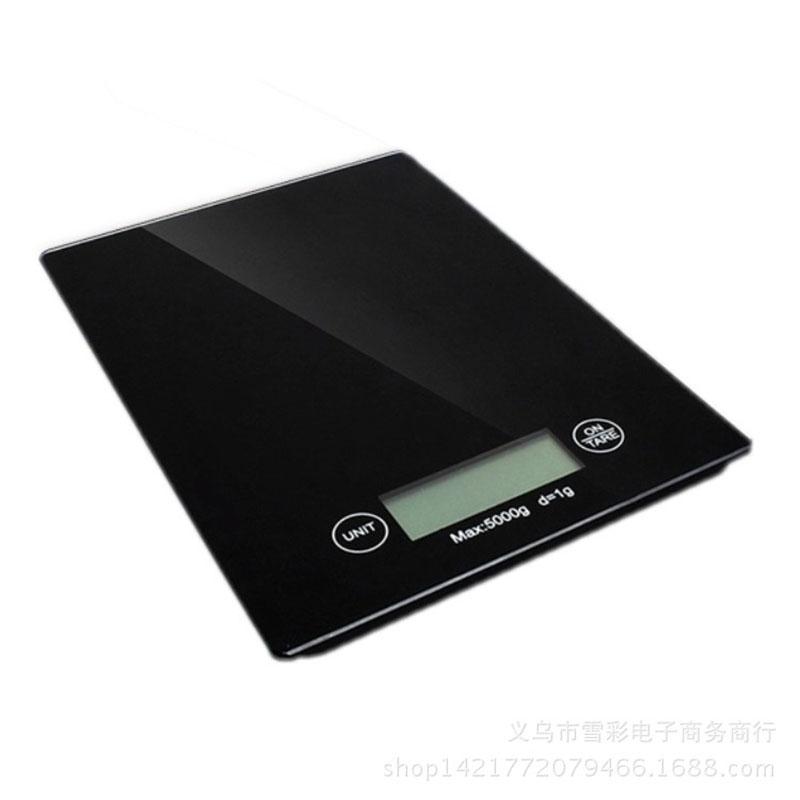 ψηφιακή ηλεκτρονική ζυγαριά κουζίνας 5KgX1gr μαύρη