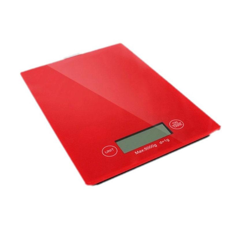 ψηφιακή ηλεκτρονική ζυγαριά κουζίνας 5KgX1gr κόκκινη