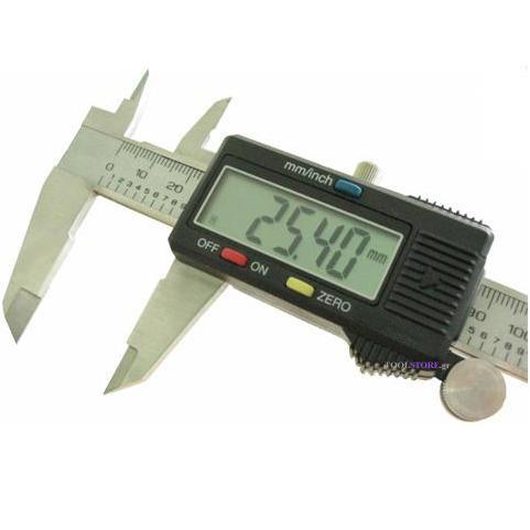 παχυμετρο ψηφιακο F.F. GROUP επαγγελματικο 150mm σε πλαστικη κασετινα