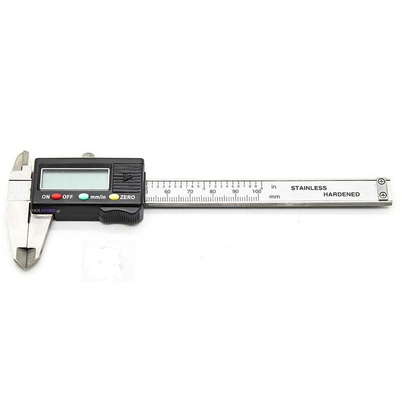 παχυμετρο ψηφιακο 100mm σε πλαστικη κασετινα