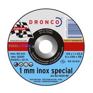 λεπτος δισκος κοπης inox DRONCO  special 115mm