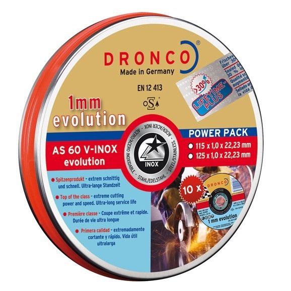 λεπτος δισκος κοπης inox DRONCO evolution 115mm 10 τμχ