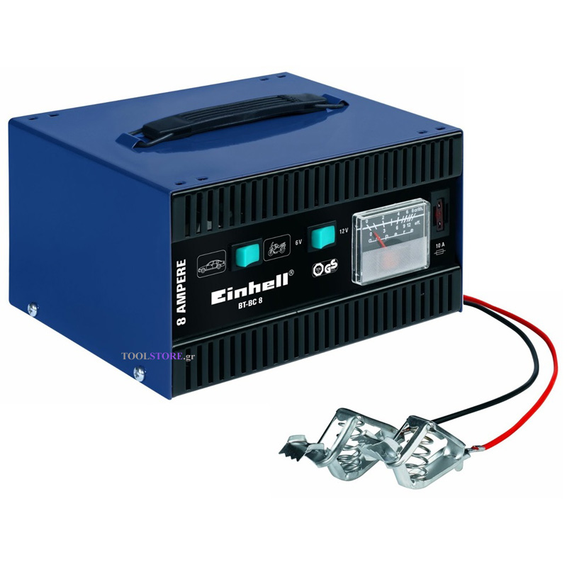Einhell 1023110 φορτιστης μπαταριας 6V ,  12V BT-BC 8