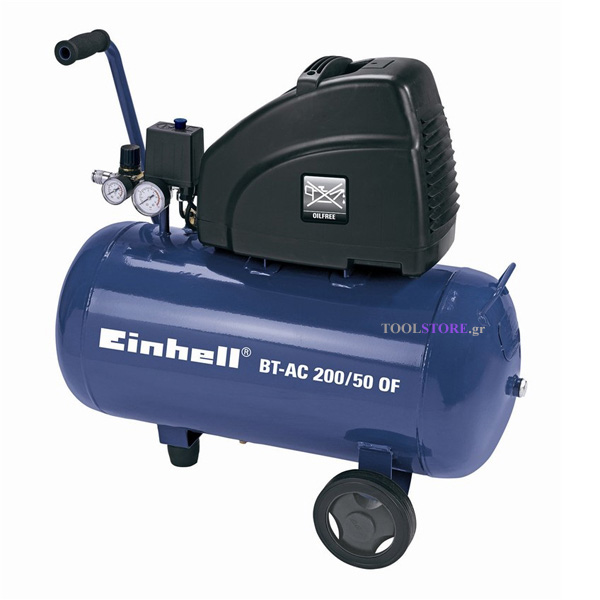 Einhell 4020480 κομπρεσερ χωρις λαδι 50lt BT-AC 200/50 OF
