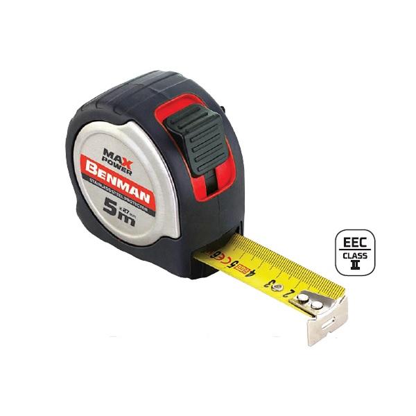 BENMAN 70637 μετρο ρολο MAX POWER 5mΧ27mm