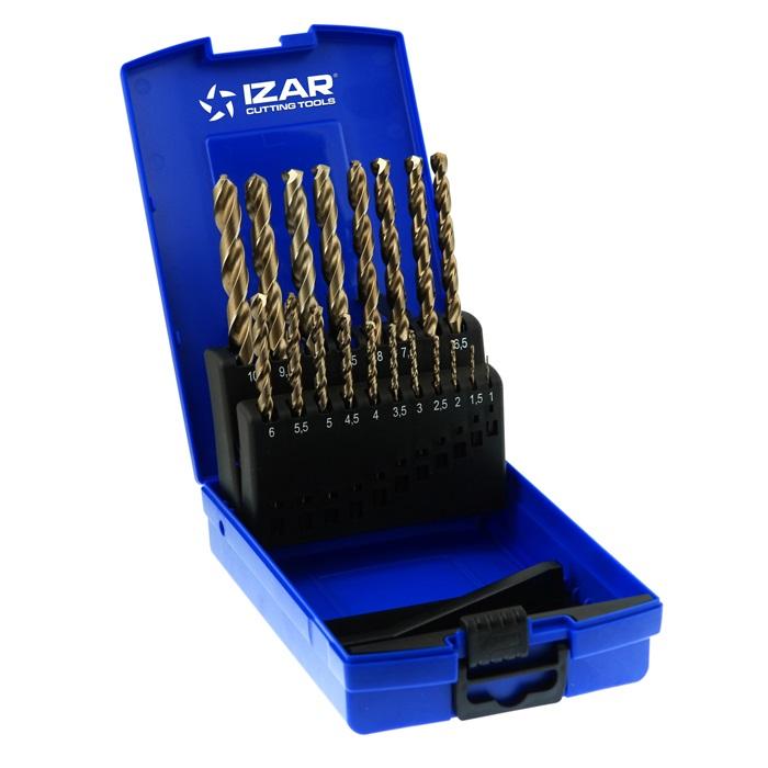 σετ τρυπανια κοβαλτιου 19 τμχ. 1-10mm IZAR
