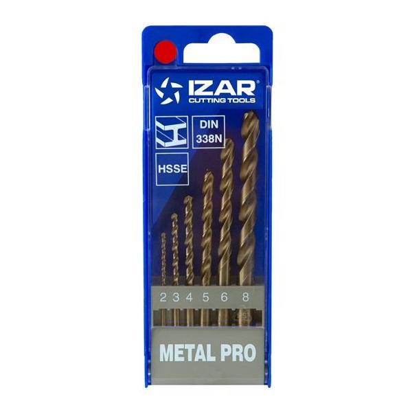 σετ τρυπανια κοβαλτιου  6 τμχ. 2-8mm IZAR