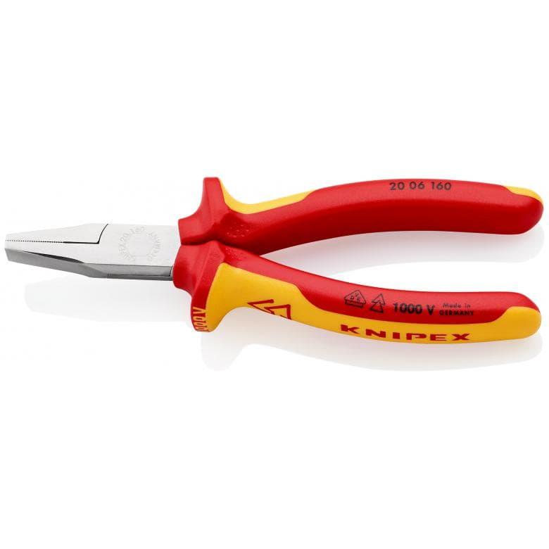 KNIPEX 2006160 πλατυτσιμπιδο χρωμιου 1000V VDE 160mm