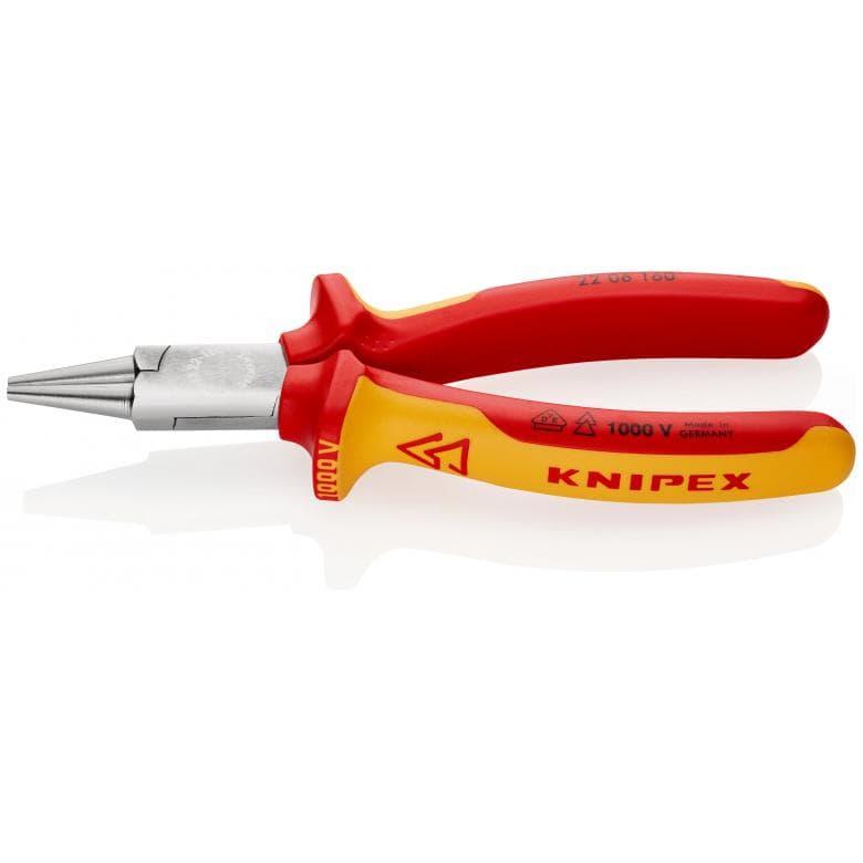 KNIPEX 2206160 στρογγυλοτσιμπιδο χρωμιου 1000V VDE 160mm