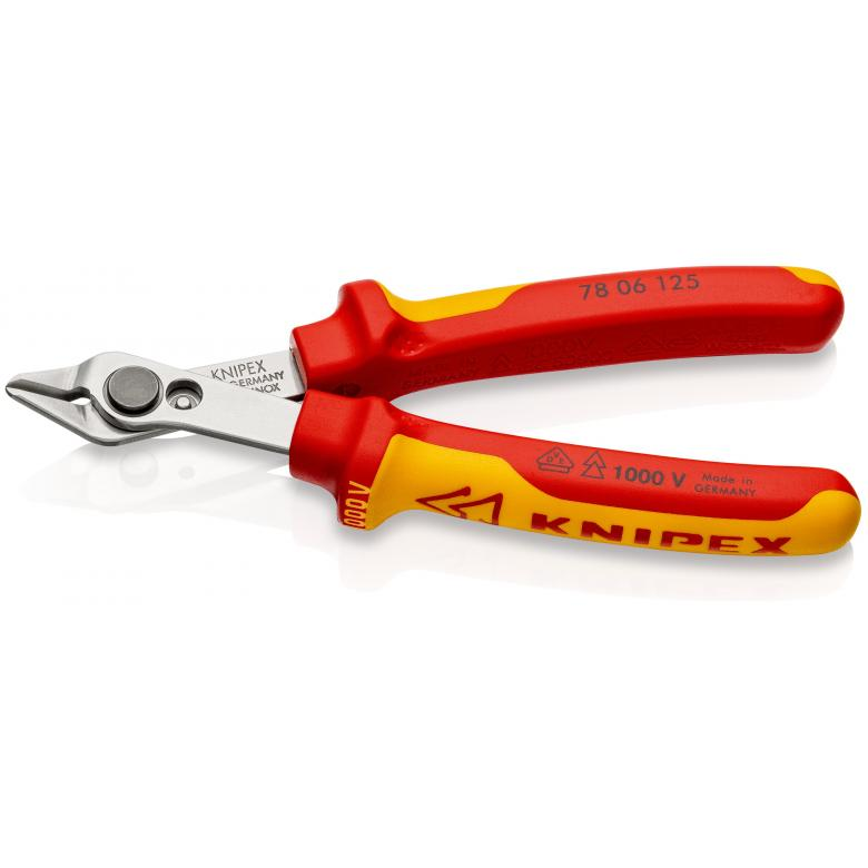 KNIPEX 7806125 κοφτάκι ηλεκτρονικών Super Knips INOX 1000V VDE χωρίς φάλτσο 125mm
