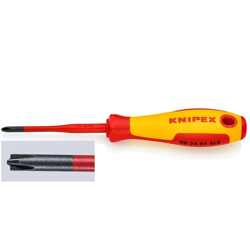 KNIPEX 982401SLS Κατσαβίδι (Slim) PlusMinus 1000V VDE Phillips No. 1