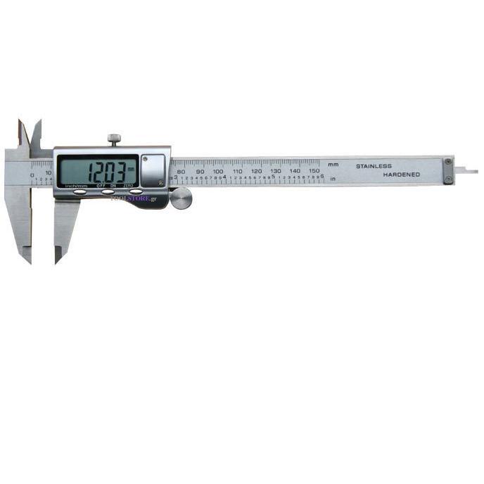 παχυμετρο ψηφιακο 150mm με μεταλ.θηκη σε πλαστικη κασετινα