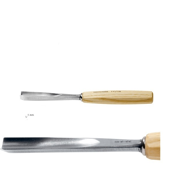 pfeil 11/1 σκαρπέλο ξυλογλυπτικής ευθεία λάμα βαθιά κοίλη κόψη 1mm