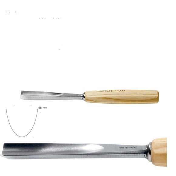 pfeil 11/25 σκαρπέλο ξυλογλυπτικής ευθεία λάμα βαθιά κοίλη κόψη 25mm