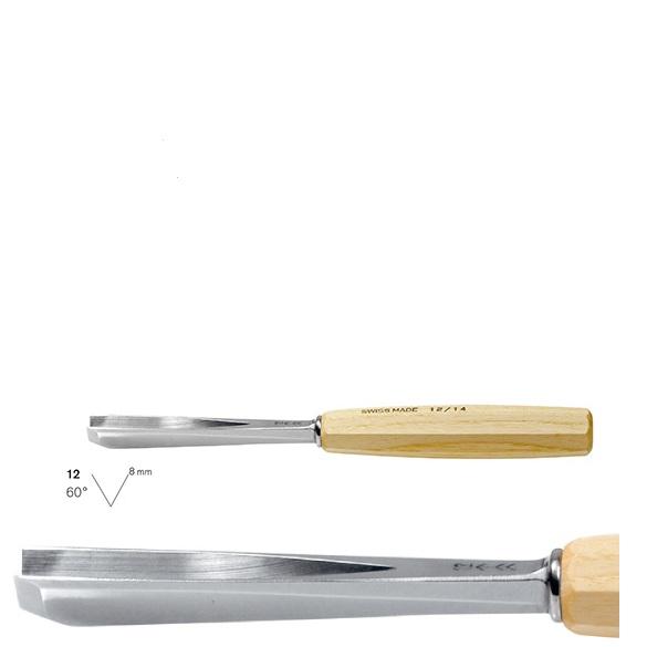 pfeil 12/8 σκαρπέλο ξυλογλυπτικής ευθεία λάμα V κόψη 60° 8mm