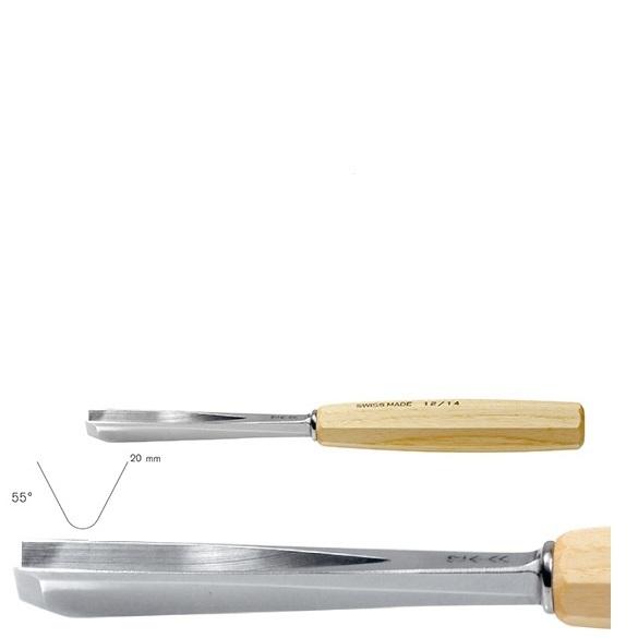 pfeil 14/20 σκαρπέλο ξυλογλυπτικής ευθεία λάμα V κόψη 55° 20mm