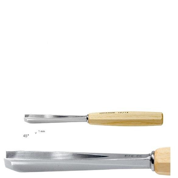 pfeil 15/1 σκαρπέλο ξυλογλυπτικής ευθεία λάμα V κόψη 45° 1mm
