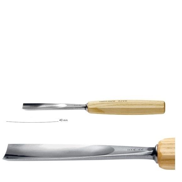 pfeil 2/40 σκαρπέλο ξυλογλυπτικής ευθεία λάμα ελαφρώς κοίλη κόψη 40mm