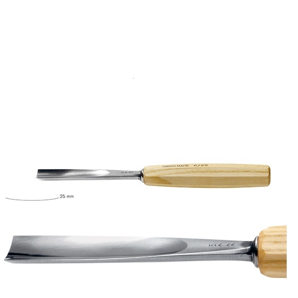 pfeil 3/25 σκαρπέλο ξυλογλυπτικής ευθεία λάμα ελαφρώς κοίλη κόψη 25mm