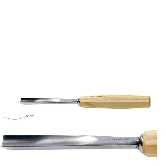 pfeil 6/18 σκαρπέλο ξυλογλυπτικής ευθεία λάμα κοίλη κόψη 18mm
