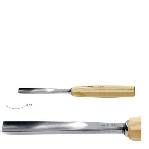 pfeil 7/18 σκαρπέλο ξυλογλυπτικής ευθεία λάμα κοίλη κόψη 18mm