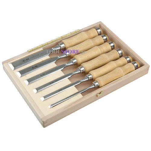 pfeil Z 1.set 6, σετ σκαρπελα σε ξυλινη θηκη