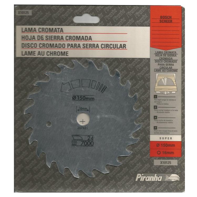 δισκος κοπης ξυλου 150Χ16mm Piranha 24 δοντια made in England
