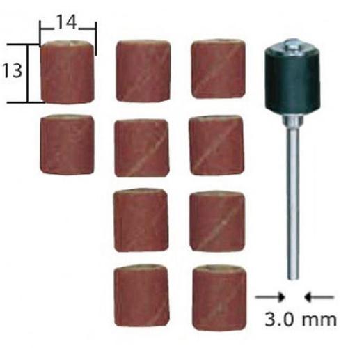 PROXXON 28978 κυλινδρική βάση και 10 κύλινδροι λείανσης 13X14mm