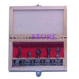 COGEX 5 φρεζες καρβιδιου για ρουτερ σε ξυλινο κουτι