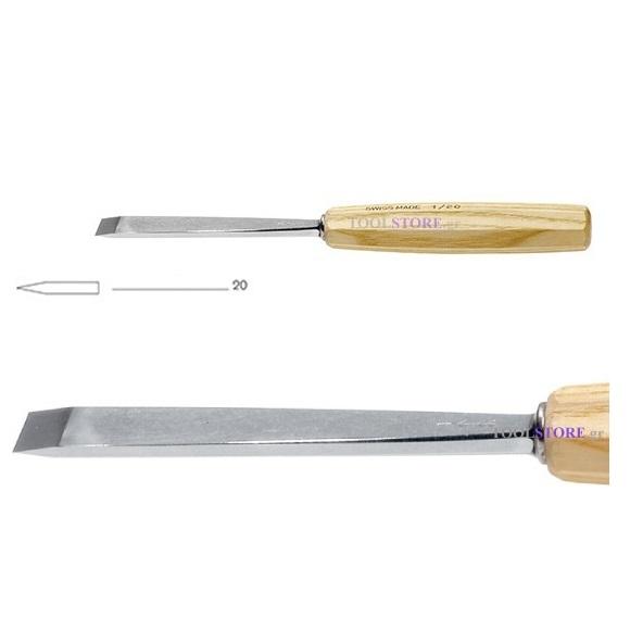 pfeil 1/20 σκαρπέλο ξυλογλυπτικής ευθεία λάμα ίσια κόψη 20mm